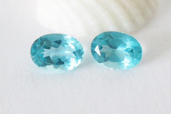 Blue Apatite 7x5mm Matched Pair 1.80cts