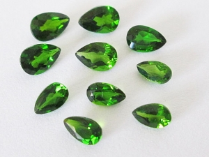 Russian Chrome Diopside Pear Cut Lot 3.30cts