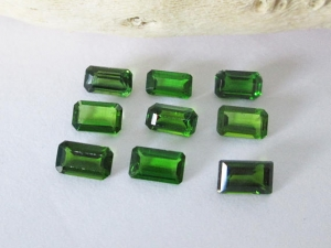 Chrome Diopside Emerald Cut Lot 2.65cts