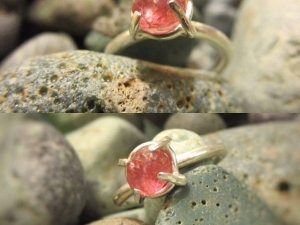 Pink Spinel 14k Gold Ring